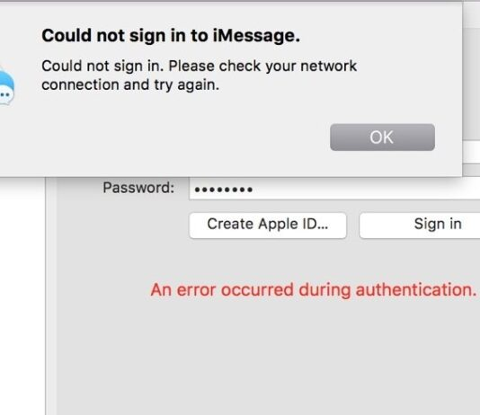 Can't Sign In To iMessage On Mac