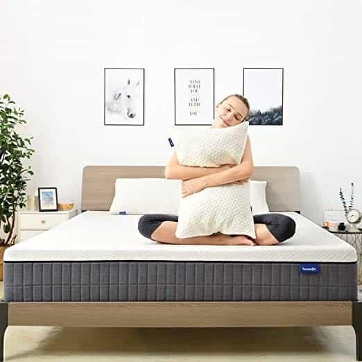 Sweet night Queen Mattress in a Box - 12 Inch Plush Pillow Top Hybrid Mattress, Gel Memory Foam for Sleep Cool, Motion Isolating Individually Wrapped Coils, CertiPUR-US Certified, Queen Size